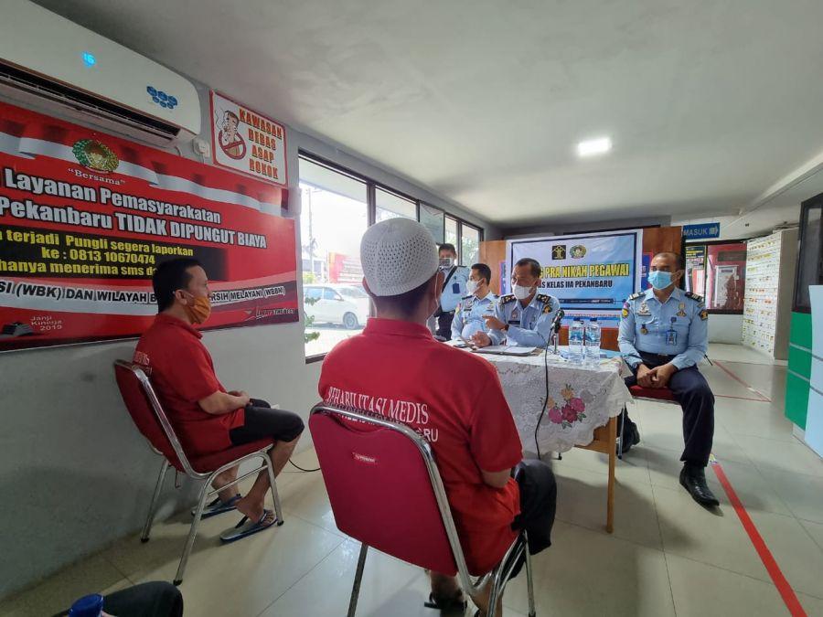 Kanwil Kemenkumham Monev Terhadap Program Rehab di Lapas Pekanbaru